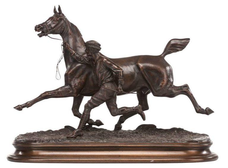 Arthur Marie Gabriel, Comte du Passage 'Trotting Horse and Groom'