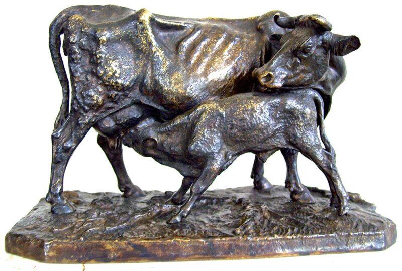 P. J. Mène 'Vache et son veau'