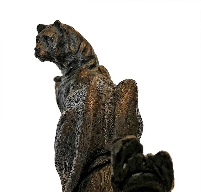 Ben France Mountain Lord bronze cougar sculpture available at Sculpture Collector
