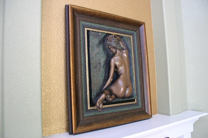 Bill Mack alto-relief sculpture - Innocence - bonded bronze now available at Sculpture Collector