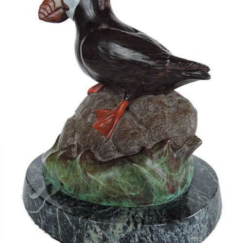 Bill Hunt Bronze Sculpture of a tufted puffin - Sea Parrot II - is now available for sale at Sculpture Collector