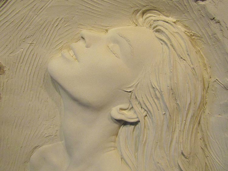"""ill Mack sculpture 'Passion'"""" bonded sand now available at Sculpture Collector"""