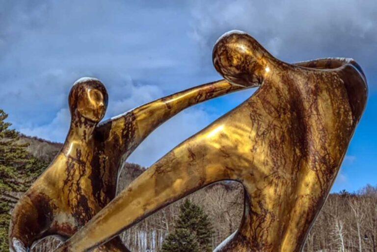 Bob Wilfong bronze sculpture Dance of Love, Dance of Life