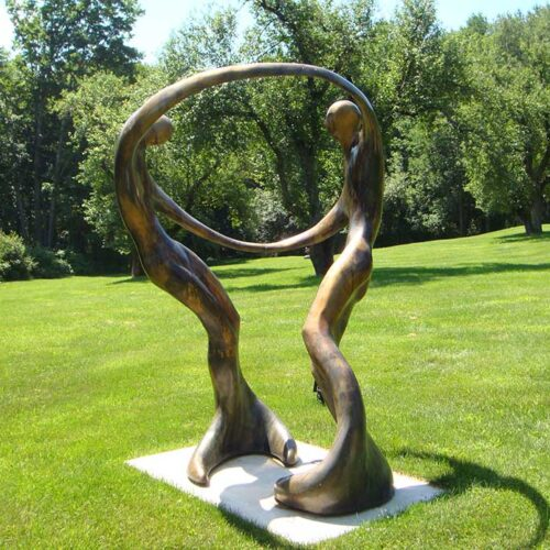 Bob Wilfong Monumental Bronze Sculpture 'Dance of Love, Dance of Life' available now at Sculpture Collector