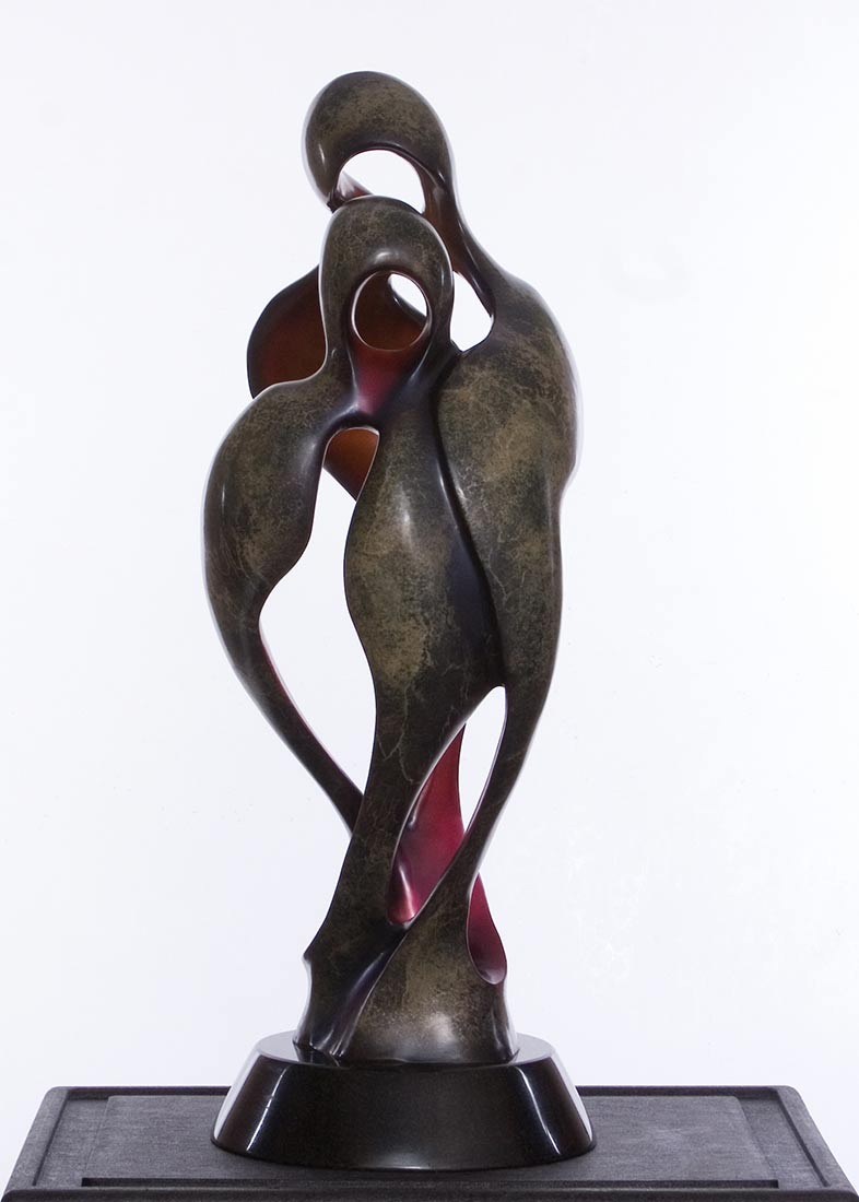 Bob Wilfong Wings of Love a famous contemporary bronze sculpture available now at Sculpture Collector where sculpture is affordable and purchased and listed for sale and resale