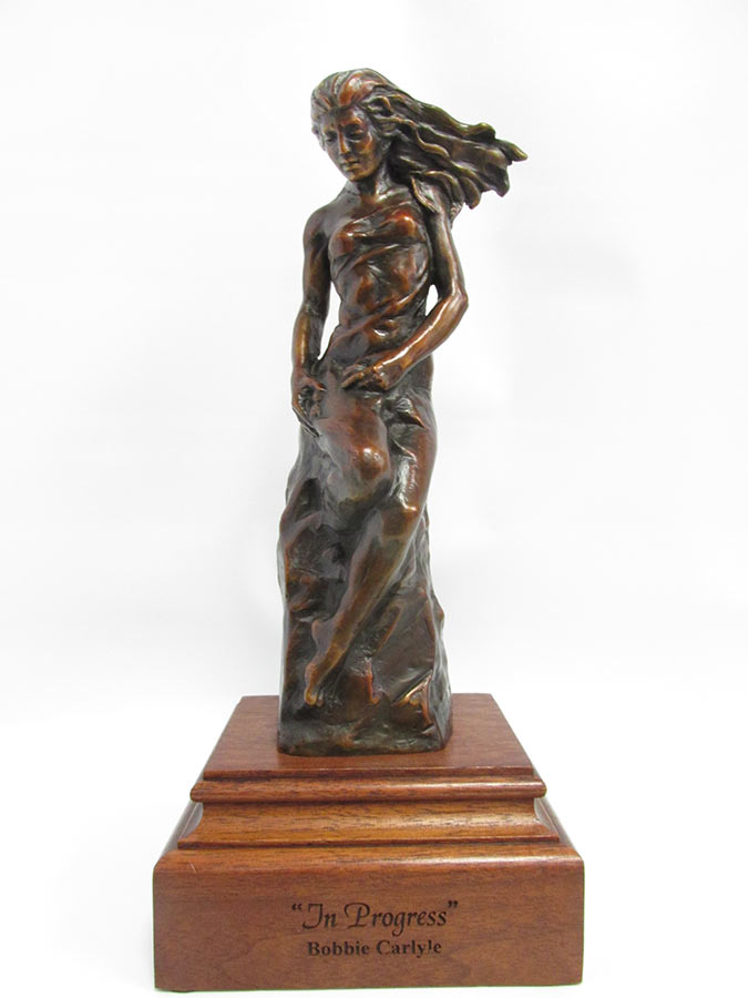 Bobbie Carlyle In Progress bronze sculpture available for sale at Sculpture Collector