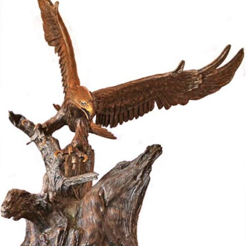Freedom a bronze Eagle sculpture by Carl Wagner