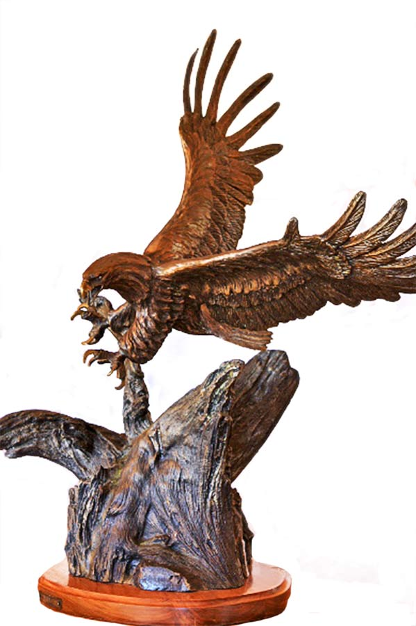 Carl Wagner, 'Freedom' bronze eagle sculpture available now at Sculpture Collector