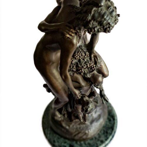 after Claude Michel Clodion Faune et Muse figurative bronze sculpture