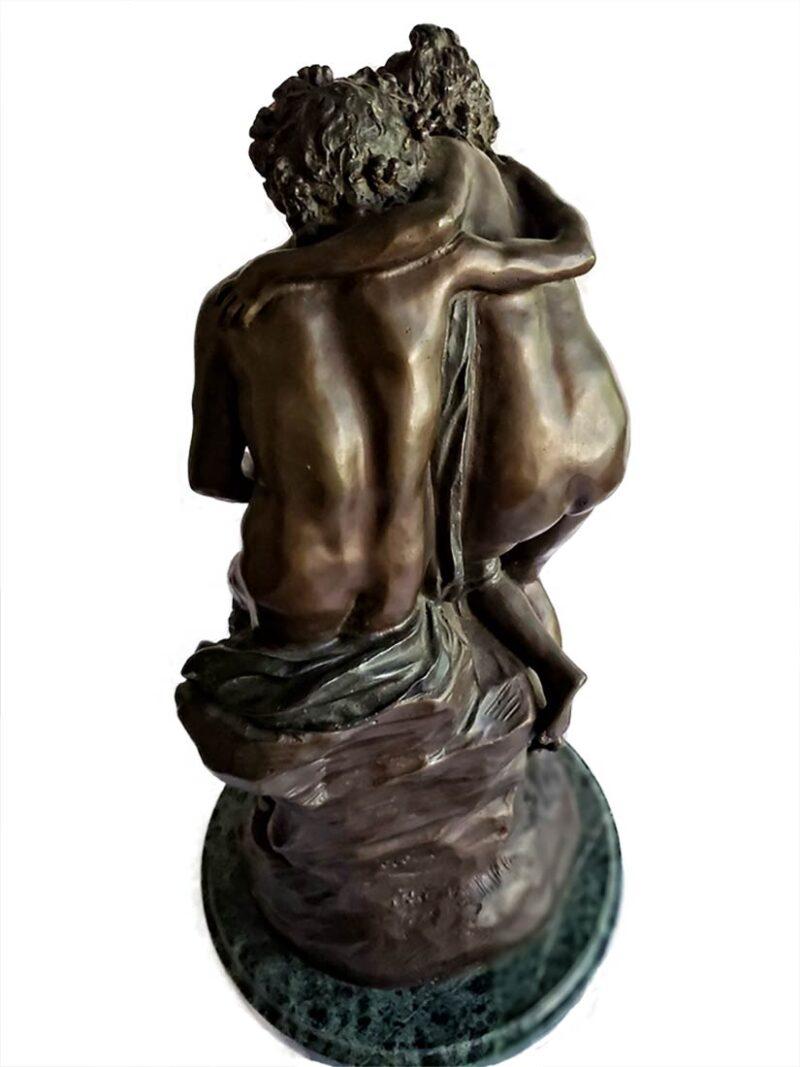 after Claude Michel Clodion Faune et Muse figurative bronze sculpture
