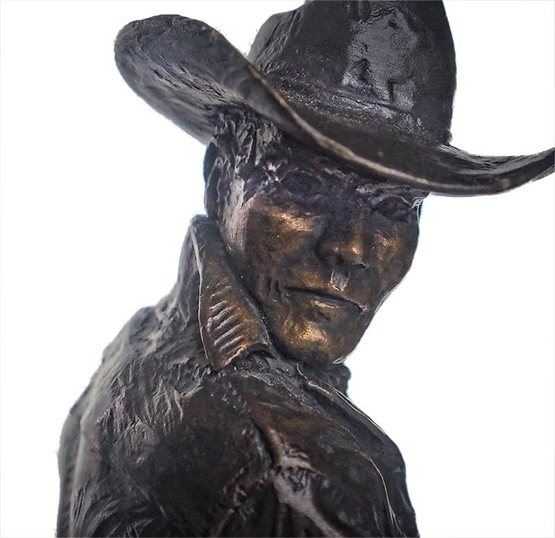 Hoolihan a Famous Limited edition bronze cowboy sculpture by Con Williams available now from Sculpture Collector