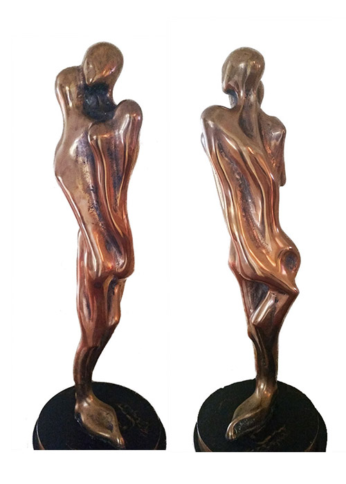 'Standing Lovers' Bronze Sculpture by Colin Webster Watson Fine Secondary Market Sculpture available now at Sculpture Collector