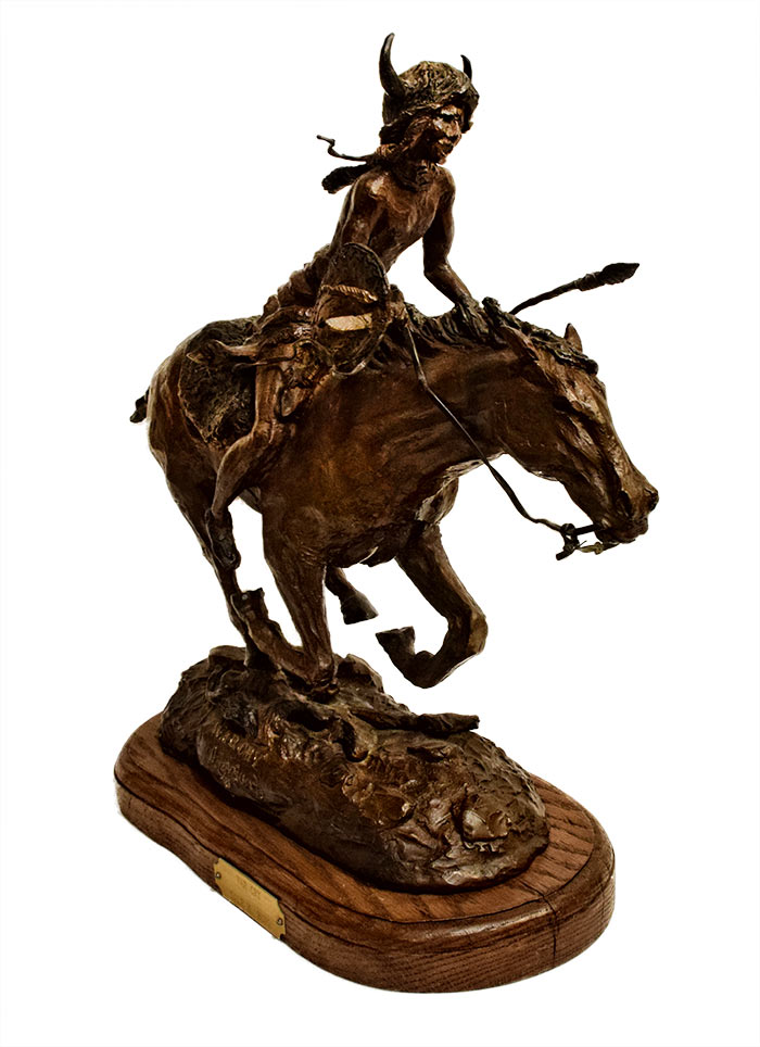 Dale M. Burr - War Cry - a bronze sculpture of an American Indian Warrior on horseback available at Sculpture Collector