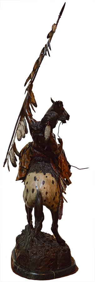 David Manual 'Destiny' bronze Native American Warrior & Appaloosa equine sculpture available for sale at Sculpture Collector