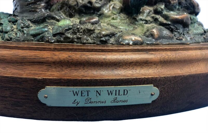 Dennis Jones Wet N' Wild bronze Bear sculpture for sale at Sculpture Collector