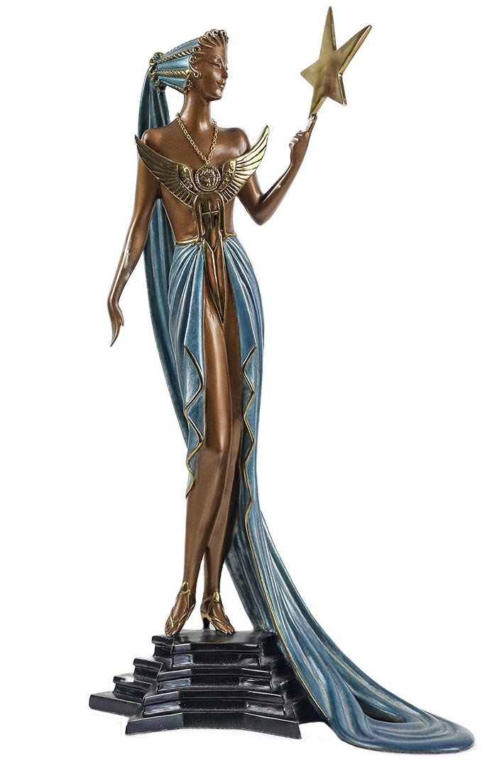 Art Deco bronze sculpture astra by Erte