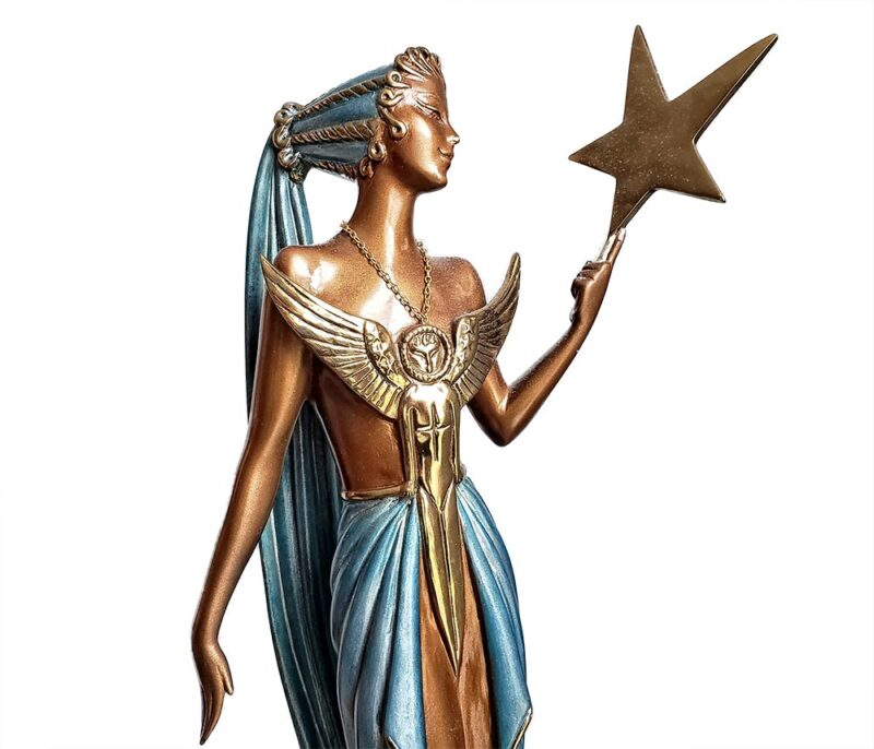 Astra art deco sculpture by famous sculptor Erte selling now at Sculpture Collector