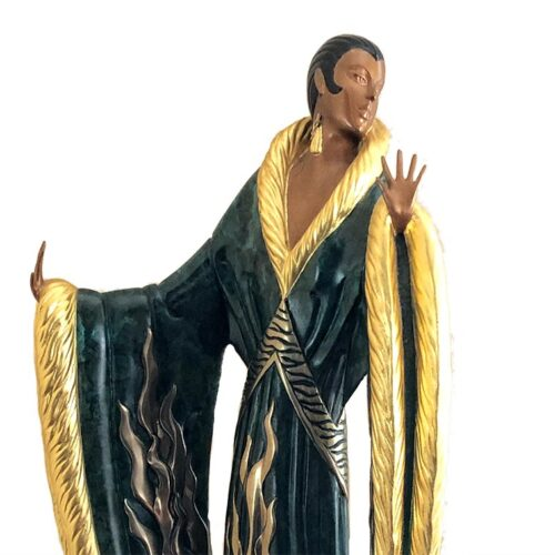 Femme De Luxe a bronze art deco sculpture by Erte at Sculpture Collector