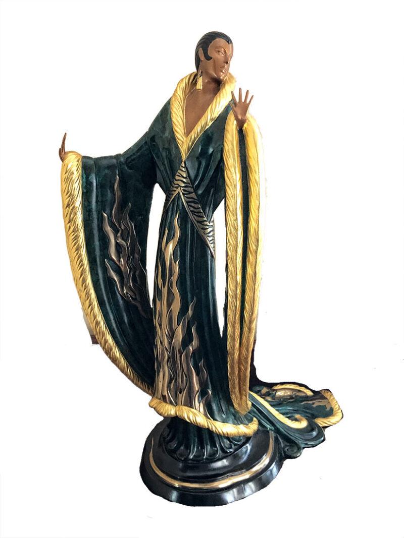 Femme De Luxe a bronze art deco sculpture by erte for sale at Sculpture Collector