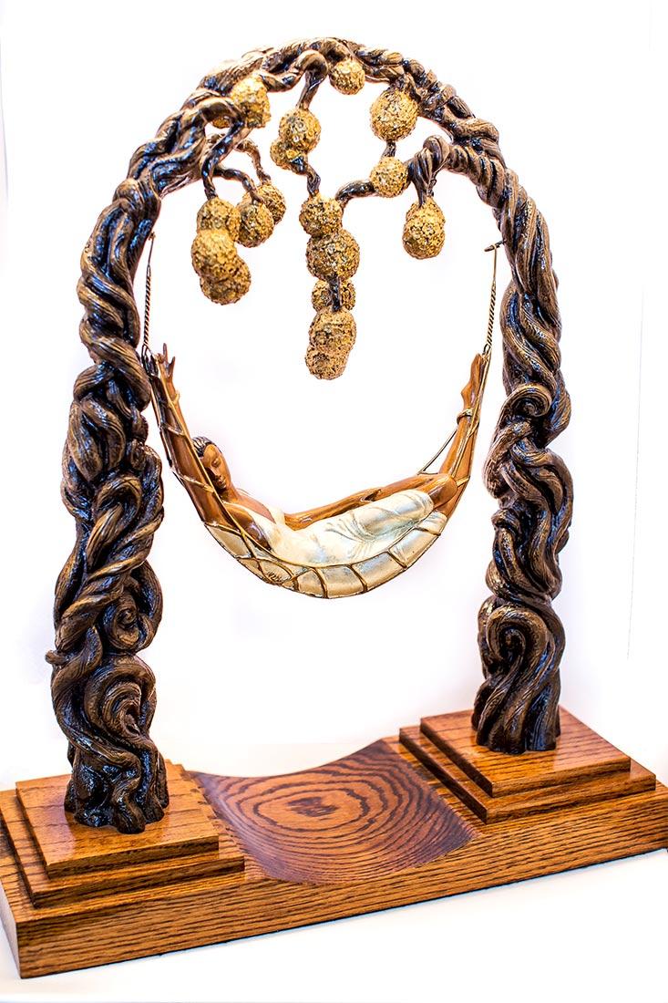 Spider Web by Erte fine bronze sculpture