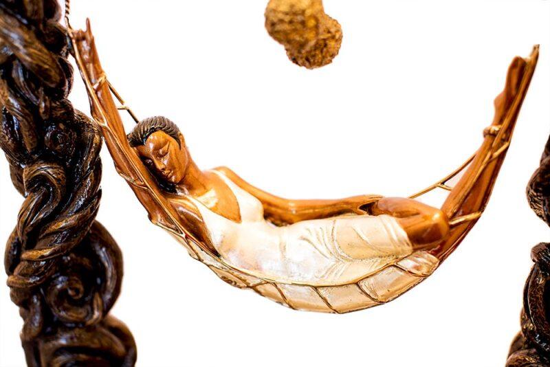 Spider Web by Erte a bronze art deco sculpture at Sculpture Collector