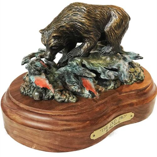 Gary Cooley 'The Old Pro' bronze sculpture of Bear now available at Sculpture Collector
