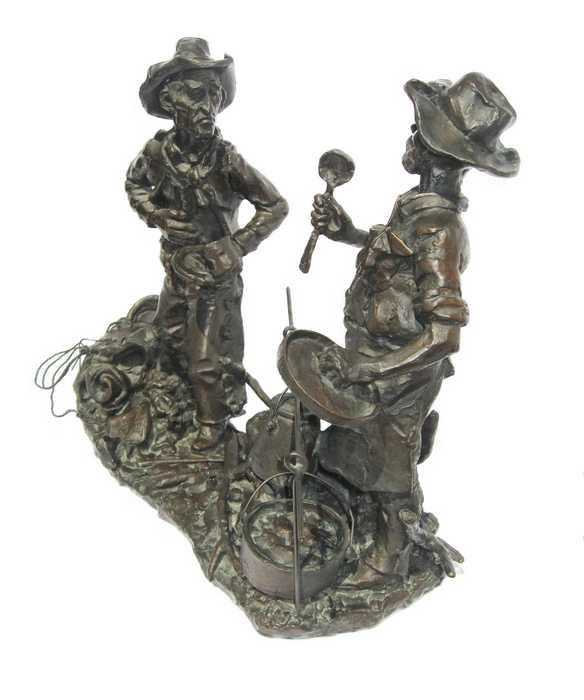 Gary Schildt Bronze Sculpture Son of a Gun Stew available at Sculpture Collector
