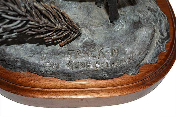 Track-N Elk Limited edition, bronze sculpture by Gene Calhoun available from Sculpture Collector