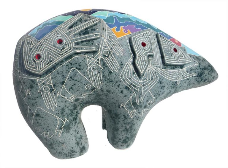 Gene & Rebecca Tobey 'Song of the Mountains' Bear sculpture