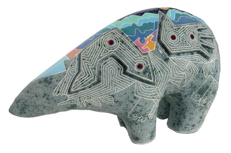 Gene & Rebecca Tobey 'Untitled Bear' ceramic sculpture available now for acquisition at Sculpture Collector