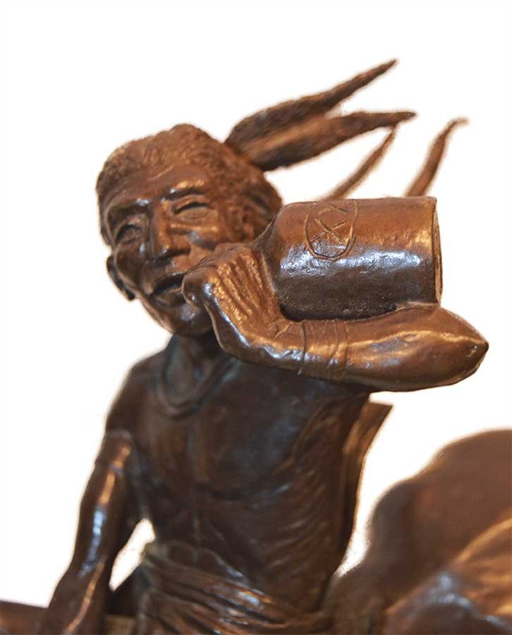 'Fire Water' Limited edition, bronze sculpture by Jack Riley available now from Sculpture Collector