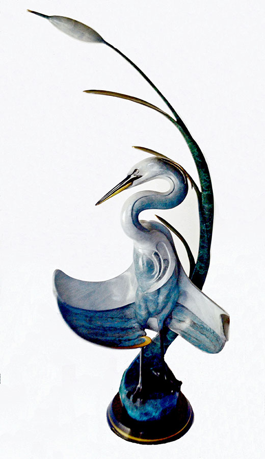 Jason Napier 'Royal Blue' bronze sculpture now available for purchase at Sculpture Collector