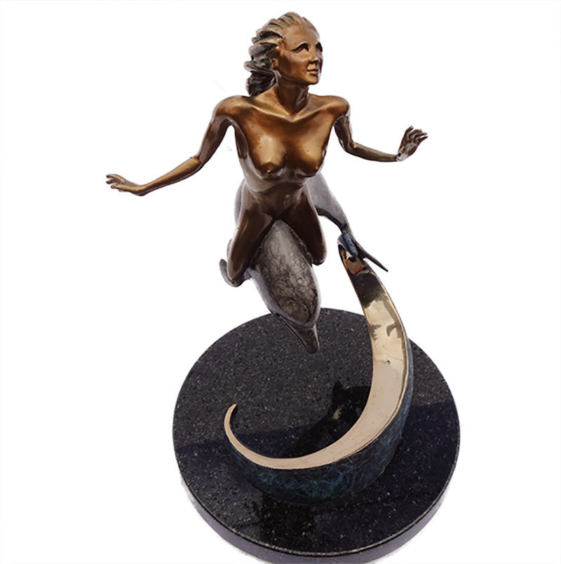 Jason Napier 'Seabreeze' bronze sculpture now available for purchase at Sculpture Collector