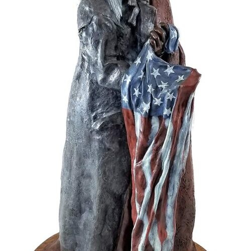 JR Eason bronze sculpture 'Protect, Honor, and Serve'