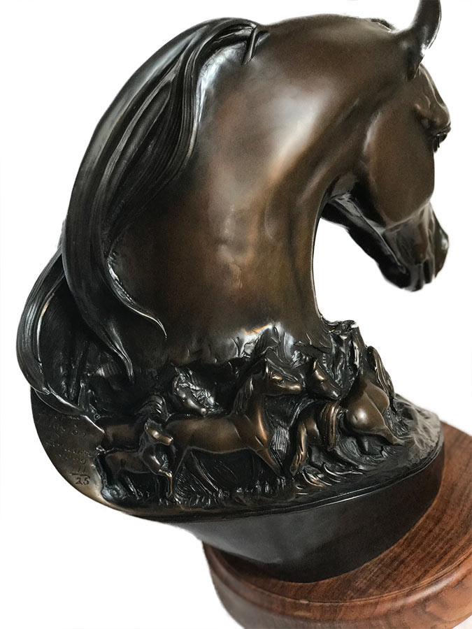 Robert Larum 'Desert Illusion' bronze Arabian equine sculpture available for sale at Sculpture Collector