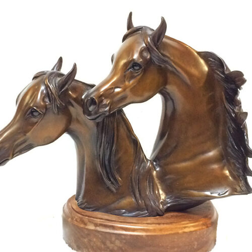 Robert Larum 'Royal Gems' bronze Arabian equine sculpture available for sale at Sculpture Collector