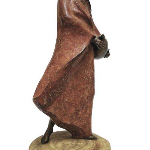 Sally Kimp bronze artist created Waterwoman a limited edition bronze sculpture
