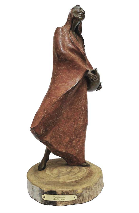 Sally Kimp bronze artist created Waterwoman a limited edition bronze sculpture
