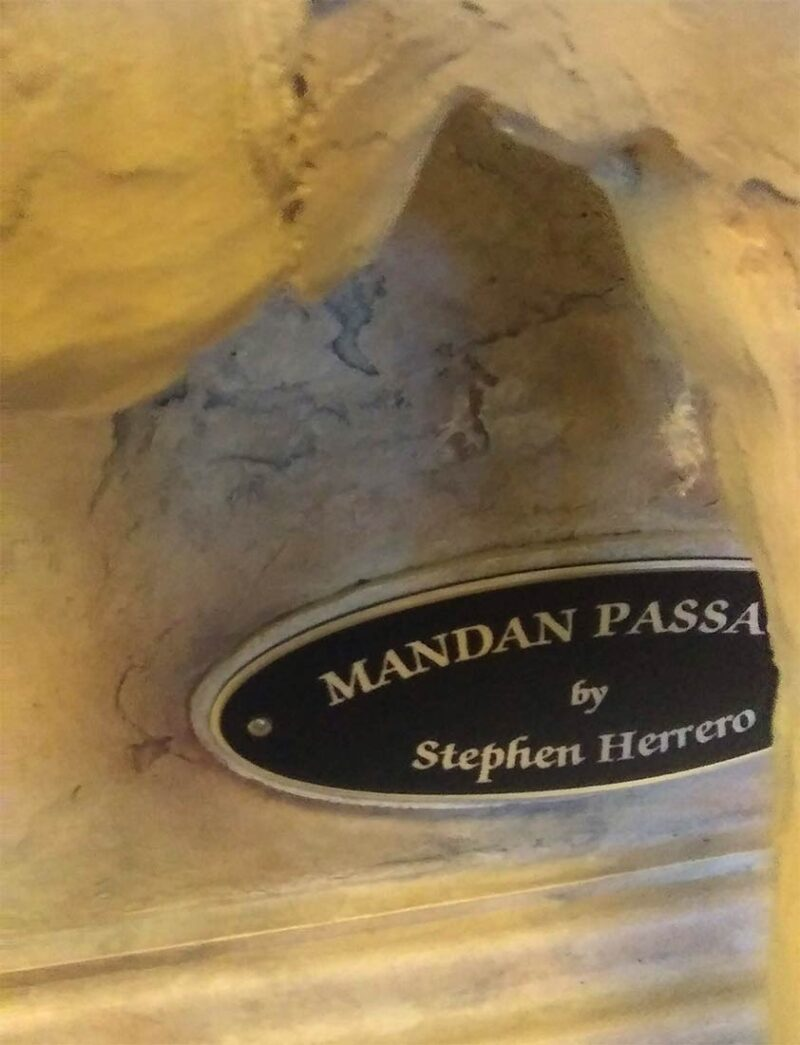 Mandan Passage a cold cast Native American sculpture by Stephen Herrero available from Sculpture Collector.