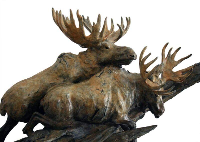 Sherry Sander 'Moose Through Deadfall'