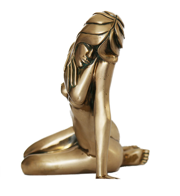 'Serenity' Limited edition figurative bronze sculpture by Tom Bennett available now from Sculpture Collector
