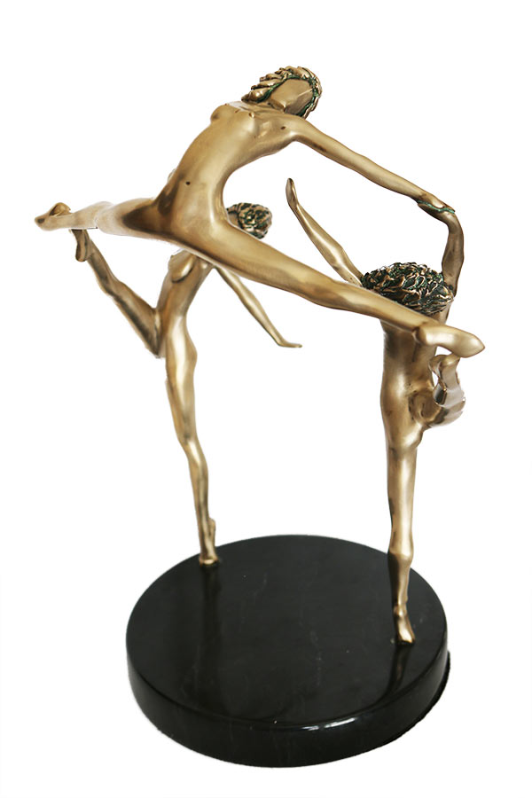 'Touch of Spring' Limited edition, bronze sculpture by Tom Bennett available now from Sculpture Collector