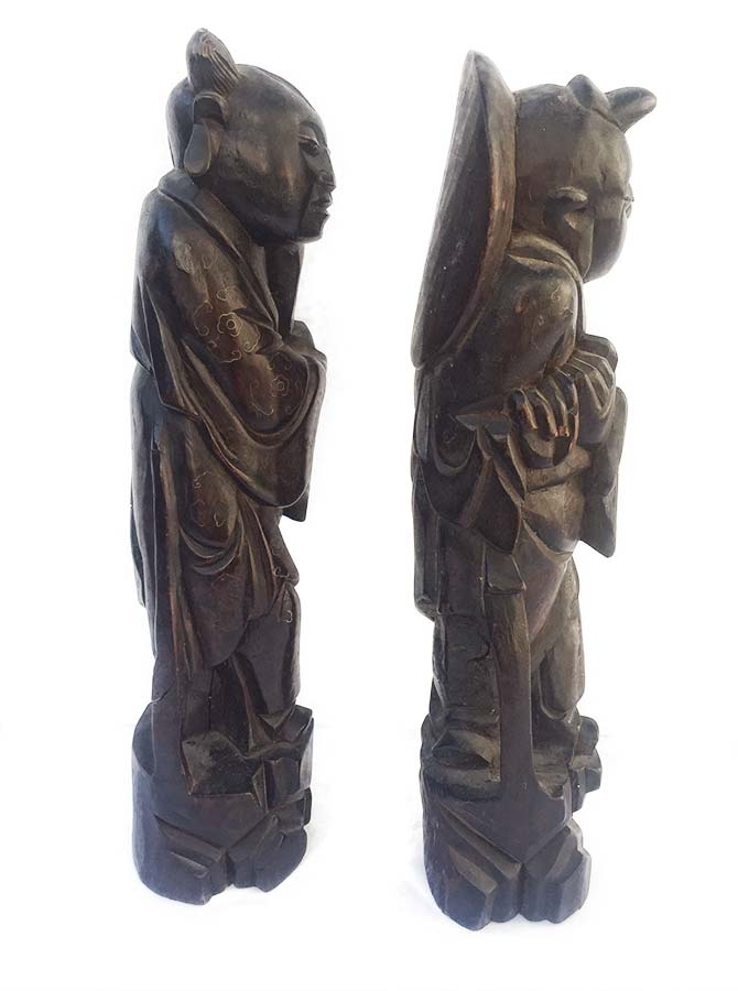 'King of Siam' Wood Sculpture thought to be Teak or Mahogany by Unknown Artist in the Fine Secondary Market Resale Sculpture Market at Sculpture Collector