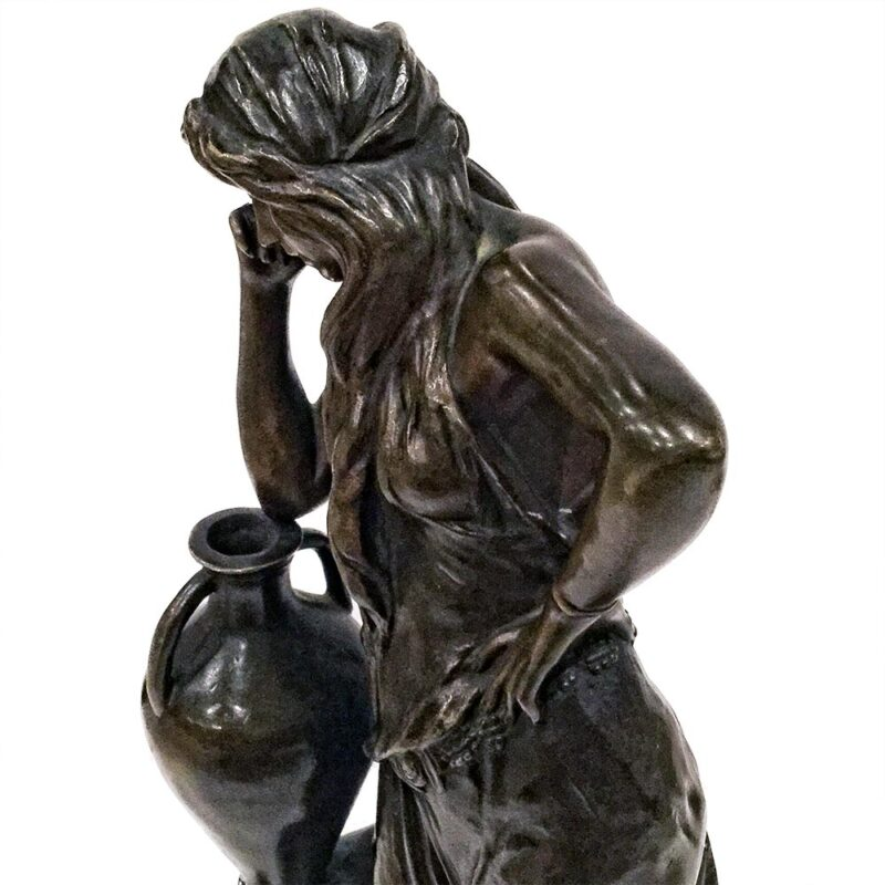 Woman Leaning on Vase by Cherc on Sculpture Collector