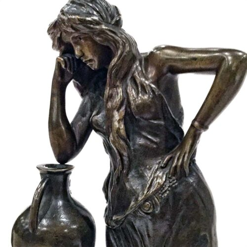 Woman Leaning on Vase by Cherc