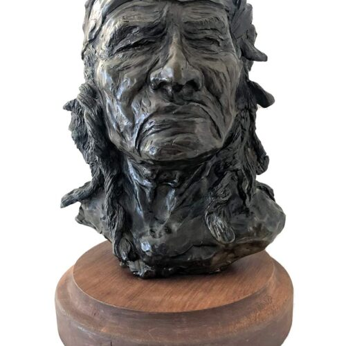 Dale M. Burr bronze sculpture 'Chief Jim Mike'