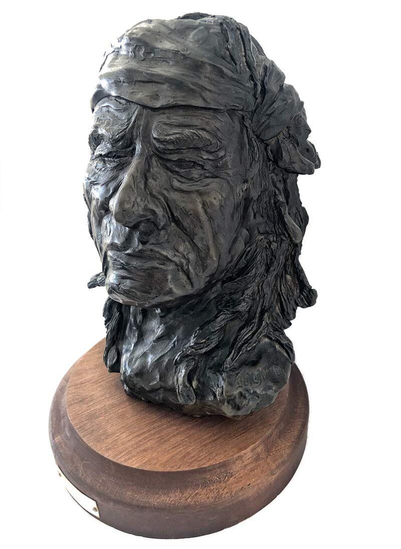Dale M. Burr bronze sculpture 'Chief Jim Mike'