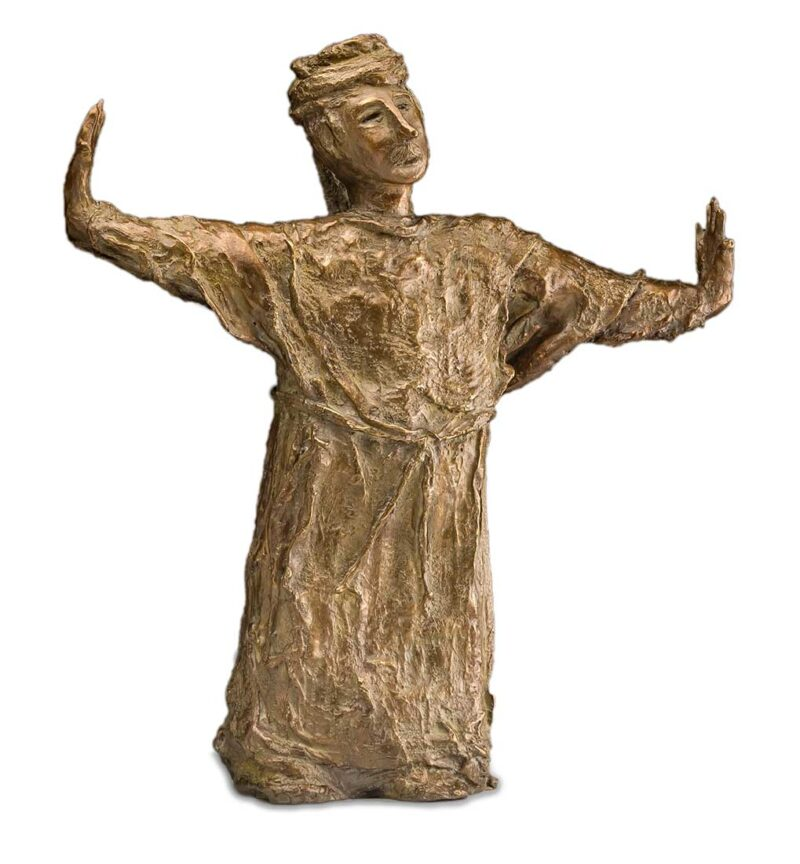 Egyptian Guide a unique bronze sculpture by Ellen Coffey
