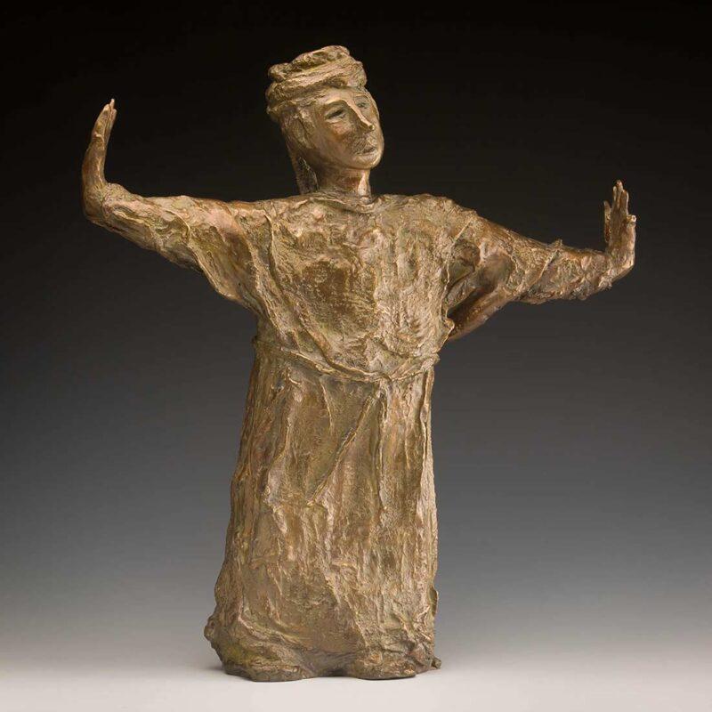 Egyption Guide a unique bronze sculpture by Ellen Coffey