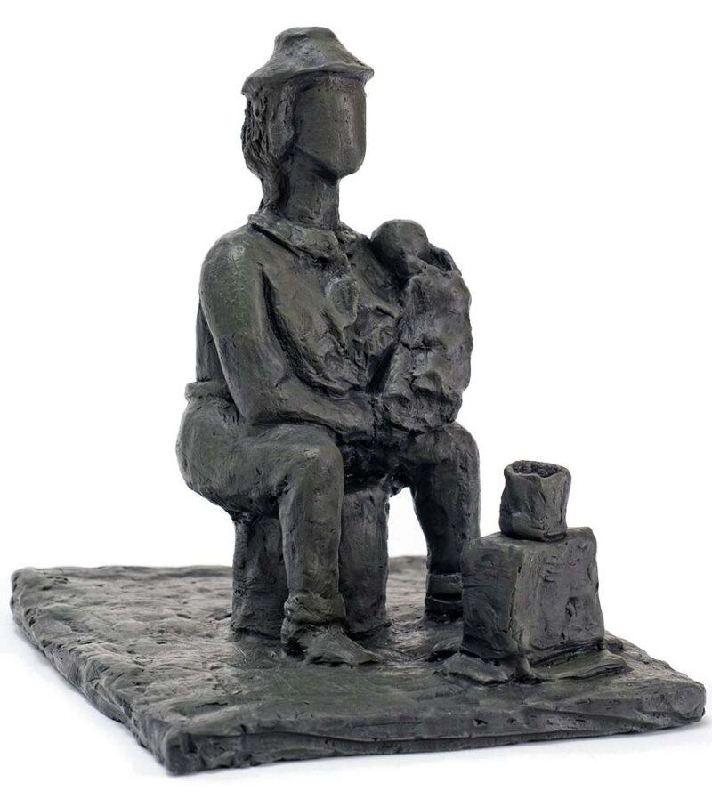 Grandmother a 2015 Fired Clay sculpture by Ellen Coffey